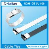D schreiben Edelstahl-Polyester beschichteten Kabelbinder für die Bündelung der Drähte