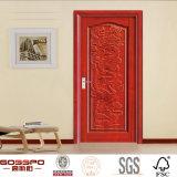 Porte-bois / bois massif en bois moulé artisanal (GSP2-039)