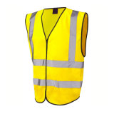 労働者の安全ベストのために反射黄色く高い可視性