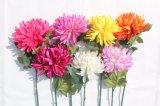 Flores falsas de seda de las flores artificiales del crisantemo para los comerciantes caseros de la decoración de la boda