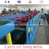 Rodillo de la viga de acero de la dimensión de una variable de C que forma la máquina
