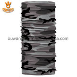 Bandana elastico di abitudine della sciarpa della fascia del tubo del collo di sport poco costoso del motociclo