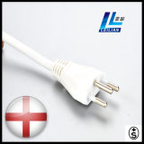 Cable eléctrico profesional del aparato electrodoméstico de 3 contactos