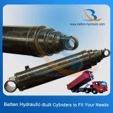 Acero inoxidable único cilindro hidráulico telescópico
