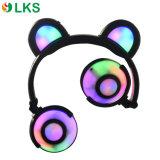 Piegare le cuffie animali stereo d'ardore di figura degli indicatori luminosi della batteria di Chargable di disegno