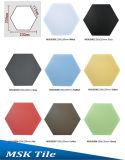 200X230mm rojo esmaltado de porcelana de pared y suelo de baldosas hexagonal