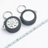 로고를 가진 타이어 형식 Promotioanl 철회 가능한 플라스틱 열쇠 고리