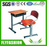 Aula de la Escuela de madera muebles de escritorio y silla (SF-68S)