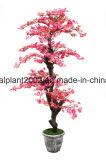 테이블 장식적인 실크 인공적인 복숭아 자두 백색 꽃 나무