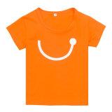 Maglietta comoda di usura dei capretti di modo con stampa di scambio di calore (TS066W)
