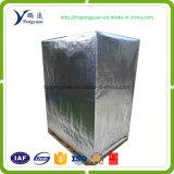 Double couche de film aluminisé Tissu tissé PE Couverture de palette à haute résistance