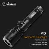 Politie, het Navulbare Flitslicht van Zoomable USB van de Schijnwerper van het Saldo van de Toepassing van Inforcement van de Wet P32