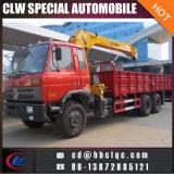 Grue montée par camion télescopique du camion 12ton de grue de la Chine 6X4