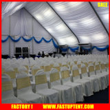 A tela de alumínio Event_Large ao ar livre do PVC ostenta barracas com forma curvada 30m por 35m