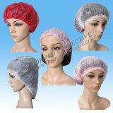 使い捨て可能な毛の保護単一か二重伸縮性があるクリップ帽子