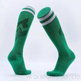Paragraph trifft langer Knie-Länge Fußball der Explosion-Ts14 Tuch-Tuch-haltbare hohe Elastizität-Terry-Sport-Socken hart