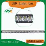Barre mince d'éclairage LED de rangée simple pour les véhicules pilotants tous terrains