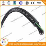 PVC de 8 A.W.G. isolé et type câble de câble de commande de jupe de Non-Halogène de PVC de comité technique