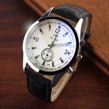Reloj verdadero de 295 de la venta caliente pequeño de la dial de los relojes analogicos hombres blancos del negro
