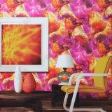 Usine de gros prix bon marché un style moderne de conception 3D Projet PVC / Accueil papier peint couleur