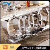 家具の食堂を食事することはステンレス鋼表のダイニングテーブルをセットした