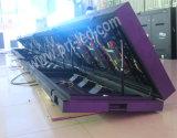 Vorderseite geöffneter Innenfarbenreicher bekanntmachender Schaukasten LED-P3 für System/Gaststätte/Salon