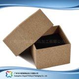 Rectángulo de regalo de empaquetado pila de discos plano de la joyería del plegamiento del papel de Kraft (xc-pbn-015)