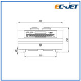 3D industriales Fecha/Hora/Carácter de la impresora de inyección de tinta continuo (CE-JET500).