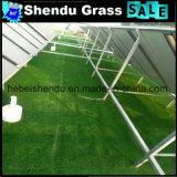 20mmの建物の装飾のための18900tuft密度の緑の偽造品の草