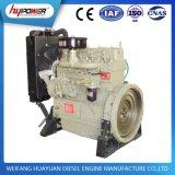물에 의하여 냉각되는 1500rpm를 가진 Weifang 30kw/40HP K4100d 디젤 엔진