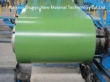 El cinc cubrió bobinas de acero galvanizadas del color verde