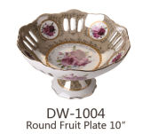Runde Frucht-Platte 10 des keramischen Porzellan-Dw-1004 ``
