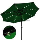 2.7m /9FT太陽LEDの傘が付いている円形LEDの庭のテラスUの屋外の傘