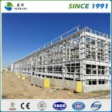 Almacén prefabricado de la estructura de acero con la pared del panel de emparedado del EPS