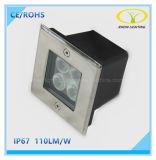 indicatore luminoso sotterraneo esterno del quadrato LED di 24V 4W per la plaza