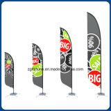 Preço de promoção de publicidade exterior em forma de gota arvorando pavilhão de penas de Banner Banner