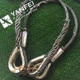 Слинг веревочки стального провода с кольцами
