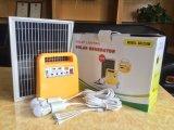 Sistema de energia 10W solar portátil com os 3 bulbos do diodo emissor de luz