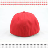 Kundenspezifische Schwarz-Baumwollbaseballmütze der Stickerei-3D