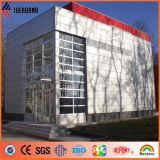 Vermelho de Serbia, painel de revestimento de alumínio externo de prata da parede de PVDF (AF-370)