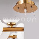 Modernes Glaskugel-Molekül-kreisförmiges hängendes Licht für Wohnzimmer