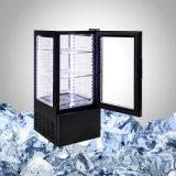 Refrigerador da bebida da bancada com 4 vidros laterais
