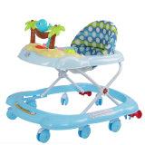 Caminhante plástico do bebê da função do cavalo de balanço com tapete