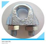 Agrafe/bride galvanisées par DIN741 de câble métallique
