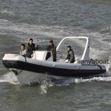 Barco inflável da casca rígida do barco do reforço do console da central de Liya 7.5m