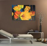 Peinture à l'huile décorative de fleur