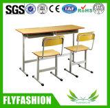 교실 아이들 의자 (SF-04D)를 가진 두 배 책상 학교 학생 책상
