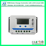 真新しい12V/24V/36V/48vauto 10A/20A/30A/45A/60A LCD二重USB PWMの太陽料金のコントローラ(VS-AUシリーズ)