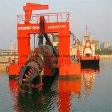 砂の浚渫船の掘る機械