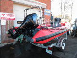 Aqualand 19feet 5.8m Fiberglas-Rippen-Boot/steifes aufblasbares Boot (RIB580T)